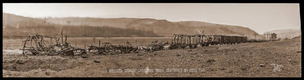 Valley Of Fire Photograph - A Wrecked German Ammunition Train by Fred Schutz Collection