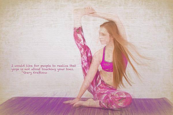 Photograph - A Yoga Pose by David Haskett II