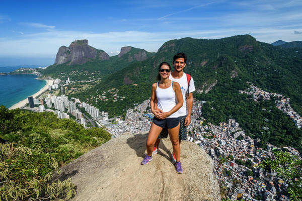 Wall Art - Photograph - A Young Couple Posing On A Panoramic by Vitor Marigo