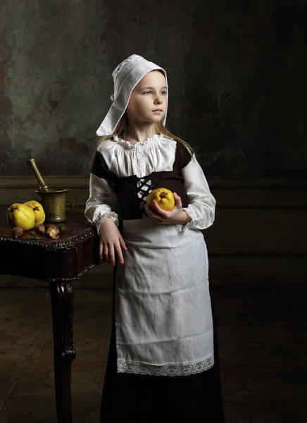 Wall Art - Photograph - A Young Girl With Some Quinces by Victoria Ivanova
