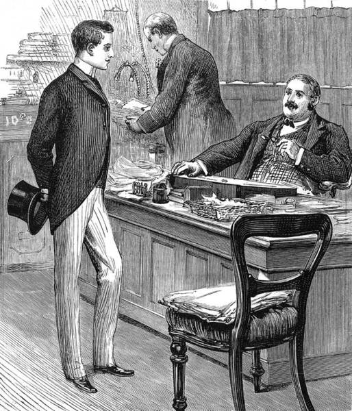 Wall Art - Drawing - A Young Man Is Appointed As  Clerk by Mary Evans Picture Library