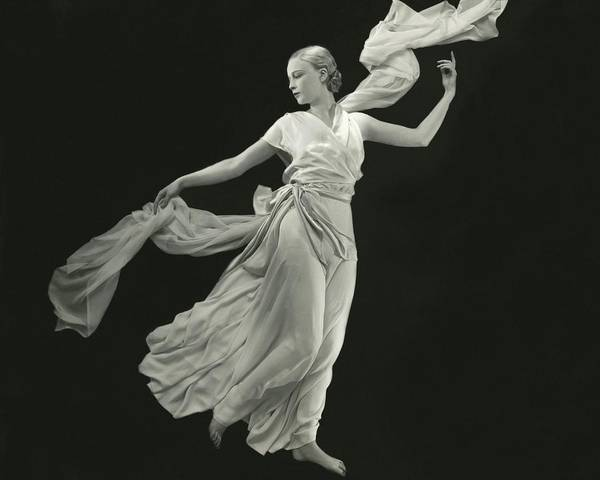 Copy Photograph - A Young Model Wearing A Vionnet Dress by George Hoyningen-Huene