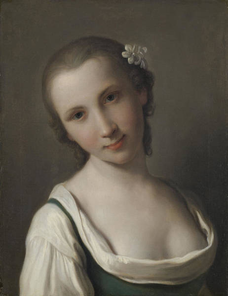 Wall Art - Drawing - A Young Woman, Pietro Rotari by Litz Collection