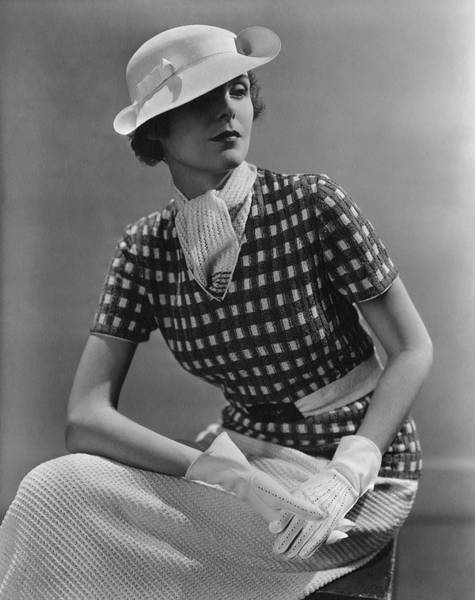 January 1st Photograph - A Young Woman Wearing A Checked Shirt And Panama by Lusha Nelson