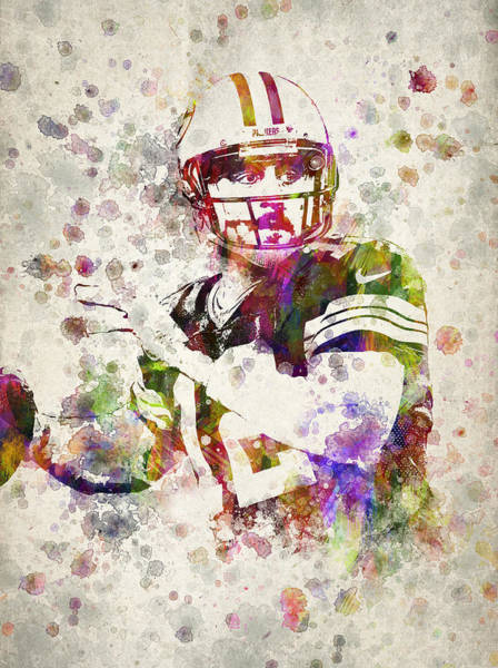 Aaron Rodgers Wall Art - Digital Art - Aaron Rodgers by Aged Pixel