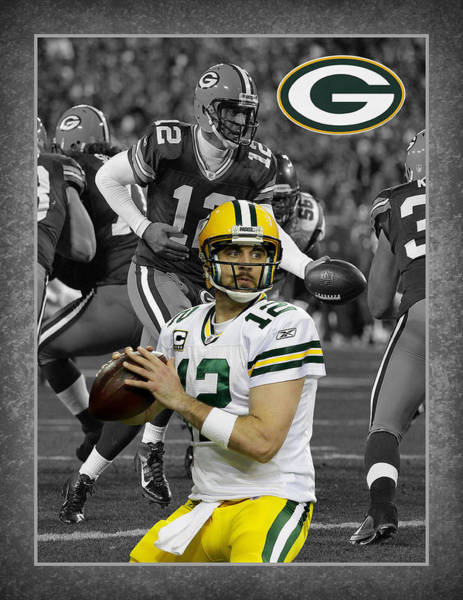 Green Grass Photograph - Aaron Rodgers Packers by Joe Hamilton