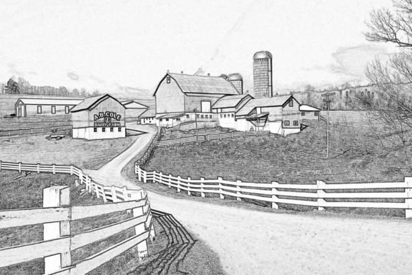 Dairy Barn Digital Art - A.b. Cole Dairy Farm by David Simons