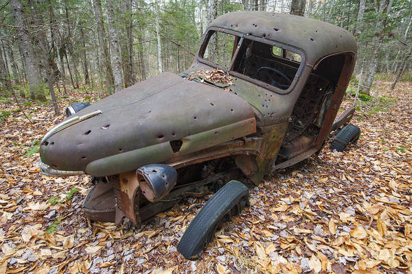 Photograph - Abandoned 1940s International Harvester Pickup - Woodstock New Hampshire Usa by Erin Paul Donovan