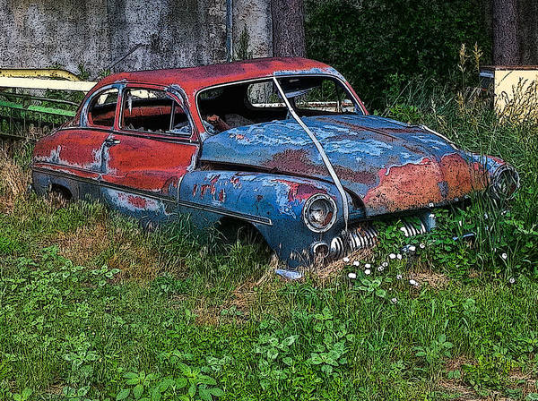 Abandoned 1950 Mercury Monteray Buick Art Print