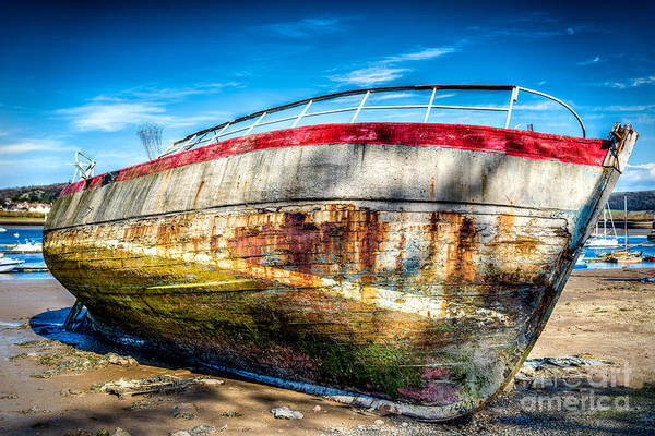 Abandon Ship Photograph - Abandoned Boat by Adrian Evans