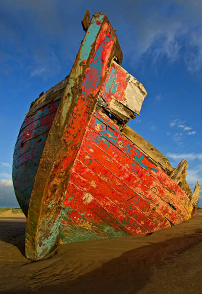 Photograph - Abandoned Boat At Crow Point by Pete Hemington