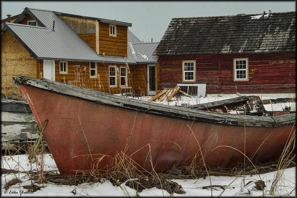 Photograph - Abandoned Boat by Erika Fawcett