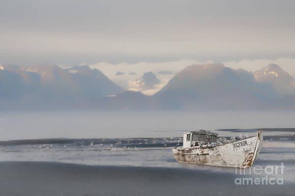Photograph - Abandoned Boat In Kachemak Bay by Dan Friend