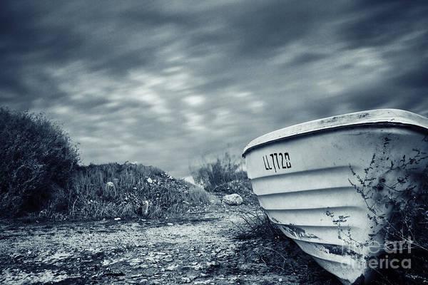 Abandon Ship Photograph - Abandoned Boat by Stelios Kleanthous