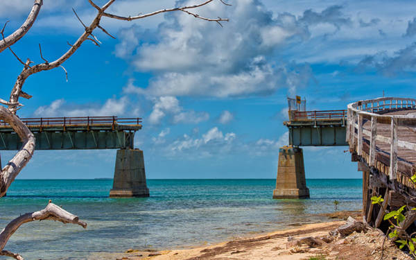 Flagler Photograph - Abandoned Bridge by John M Bailey