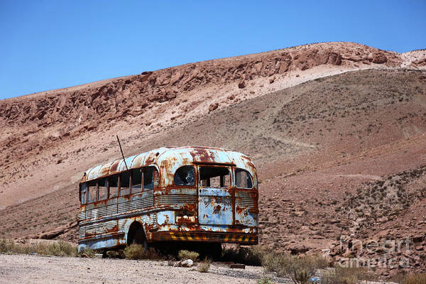 Autobus Photograph - Abandoned Bus In The Atacama Desert by James Brunker