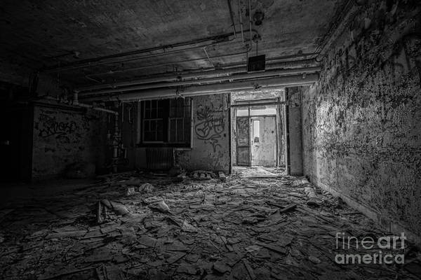 Urban Decay Wall Art - Photograph - Abandoned Bw by Michael Ver Sprill
