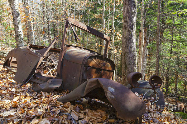 Photograph - Abandoned Car - Thornton New Hampshire Usa by Erin Paul Donovan