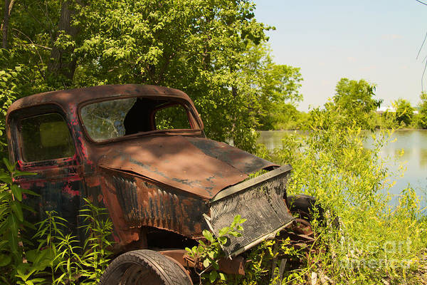 Photograph - Abandoned Car by William Norton