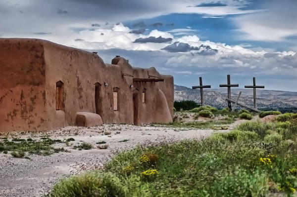 Photograph - Abandoned Church In Abiquiu New Mexico by Ginger Wakem