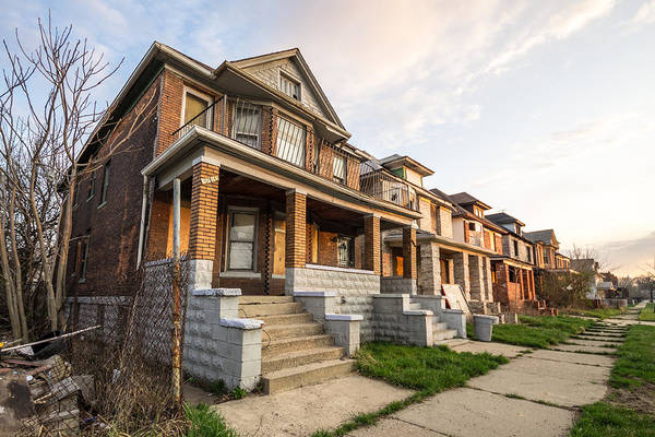 Photograph - Abandoned Detroit Neighborhood by Priya Ghose