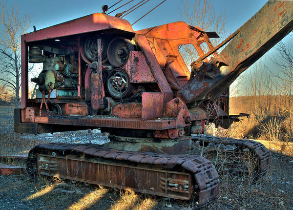 Photograph - Abandoned Digger At The Marmora Iron Mine. by Rob Huntley