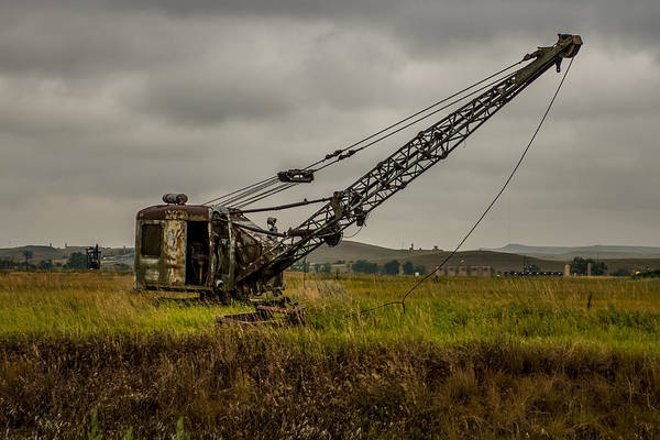 Excavator Photograph - Abandoned Drag Line by Paul Freidlund