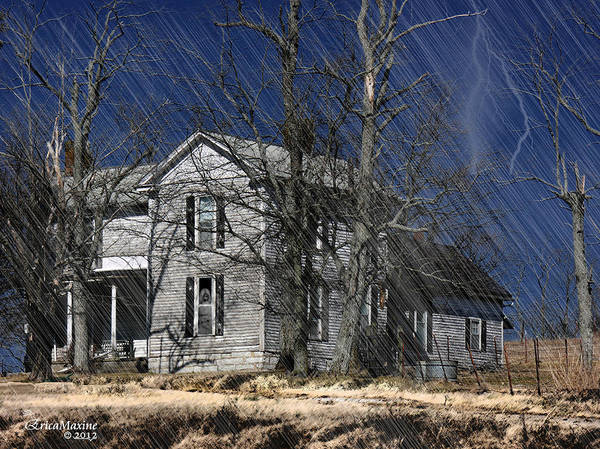 Photograph - Abandoned Except For Ghosts by Ericamaxine Price