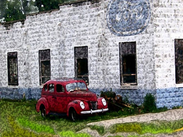 Painting - Abandoned Ford Garage by Dennis Buckman