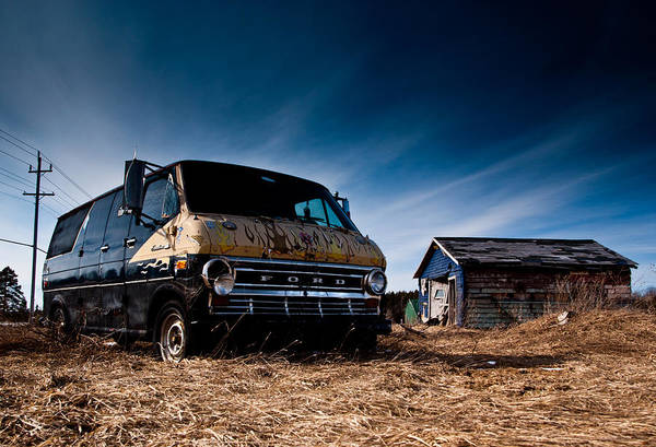 Wall Art - Photograph - Abandoned Ford Van by Cale Best