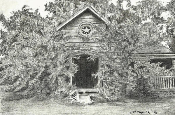 Homestead Drawing - Abandoned Homestead by Linda Taylor