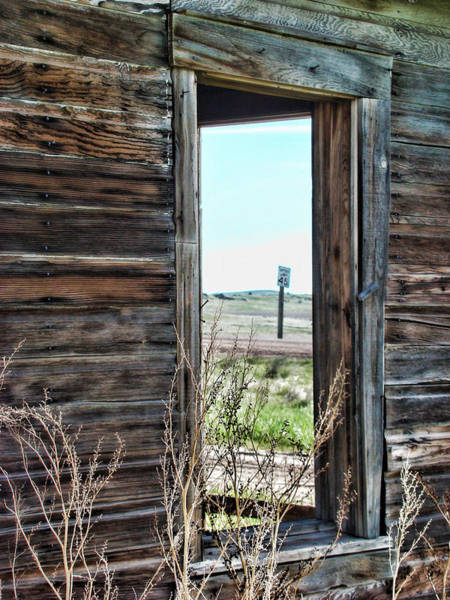 Prairie Home Digital Art - Abandoned Homestead Series Windows by Cathy Anderson