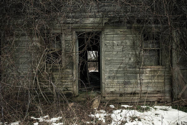 Photograph - Abandoned House - Enter House On The Hill by Gary Heller