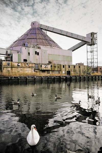 Photograph - abandoned - Industrial - Swan song by Gary Heller