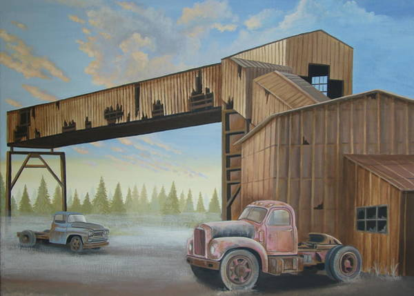 Wall Art - Painting - Abandoned Mine by Stuart Swartz