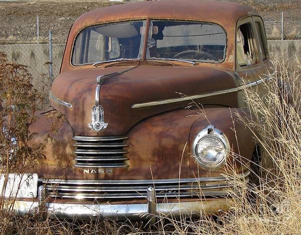 Wrecking Yard Photograph - Abandoned Nash Rambler Rusty And Old Want A Ride? by Windy Mountain
