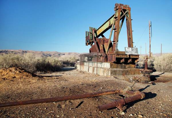 Oil Pump Photograph - Abandoned Oil Well by Jim West