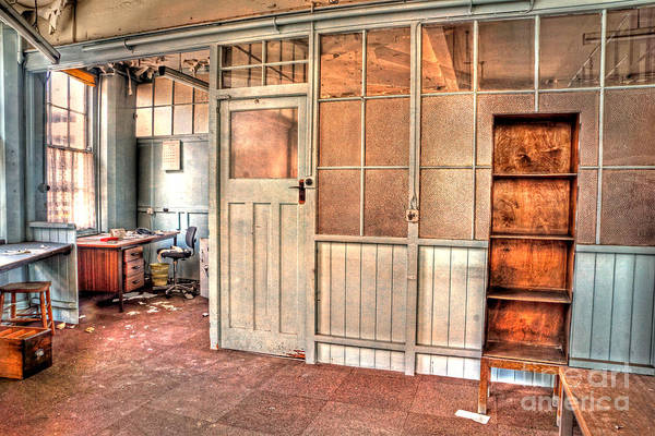 Photograph - Abandoned Old Office by David Birchall