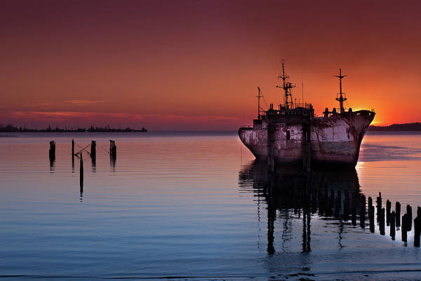 Montevideo Wall Art - Photograph - Abandoned Old Ship by Gerardo Ricardo López