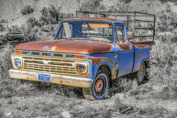 Photograph - Abandoned Pick Up Truck by Susan Leonard