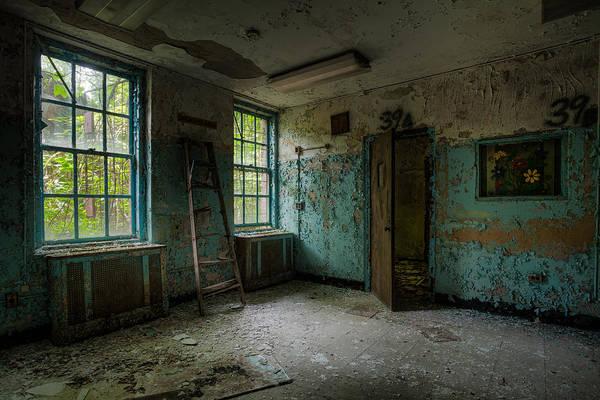 Abandoned Places - Asylum - Old Windows - Waiting Room Art Print