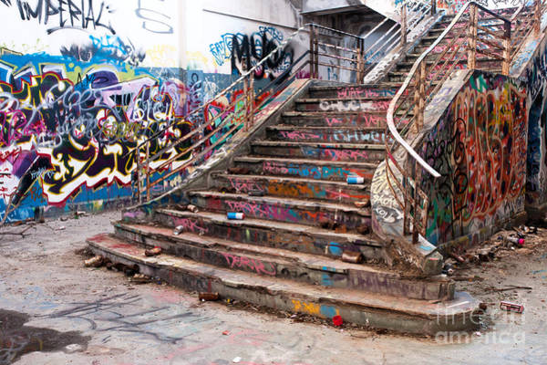 Rick Piper Photograph - Abandoned Power Station Staircase 01 by Rick Piper Photography