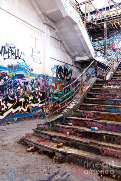 Photograph - Abandoned Power Station Staircase 02 by Rick Piper Photography