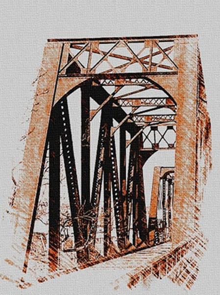 Digital Art - Abandoned Rail Bridge by Dennis Buckman