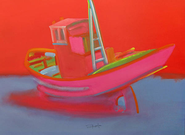 Painting - Abandoned Red Fishing Trawler by Charles Stuart