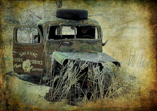 Photograph - Abandoned Saranac Cities Service Truck by Randall Nyhof