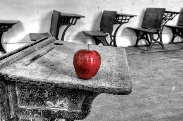 Wall Art - Photograph - Abandoned School House Red Apple by Mark Duffy