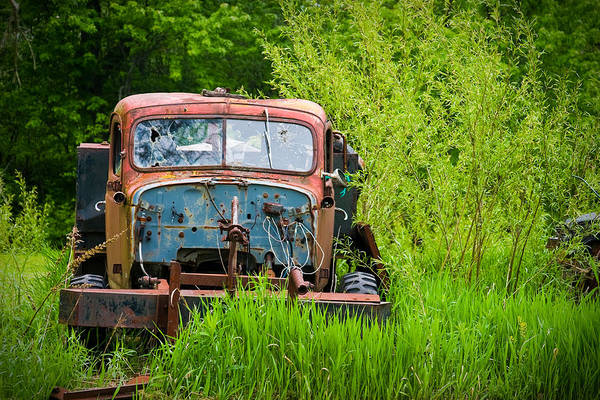 Photograph - Abandoned Truck In Rural Michigan by Adam Romanowicz