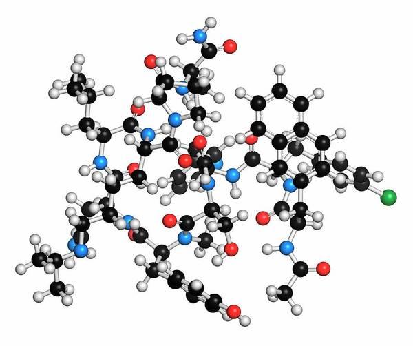 Pharma Wall Art - Photograph - Abarelix Drug Molecule by Molekuul