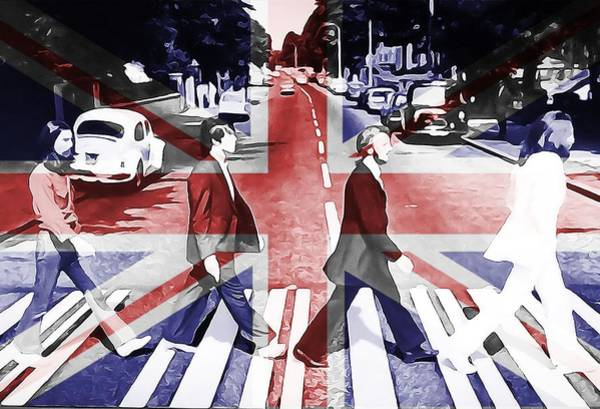 Digital Art - Abbey Road Union Jack by Dan Sproul
